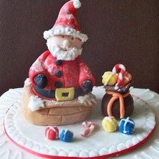 Celebrate-Cakes-Santa-in-Chimney
